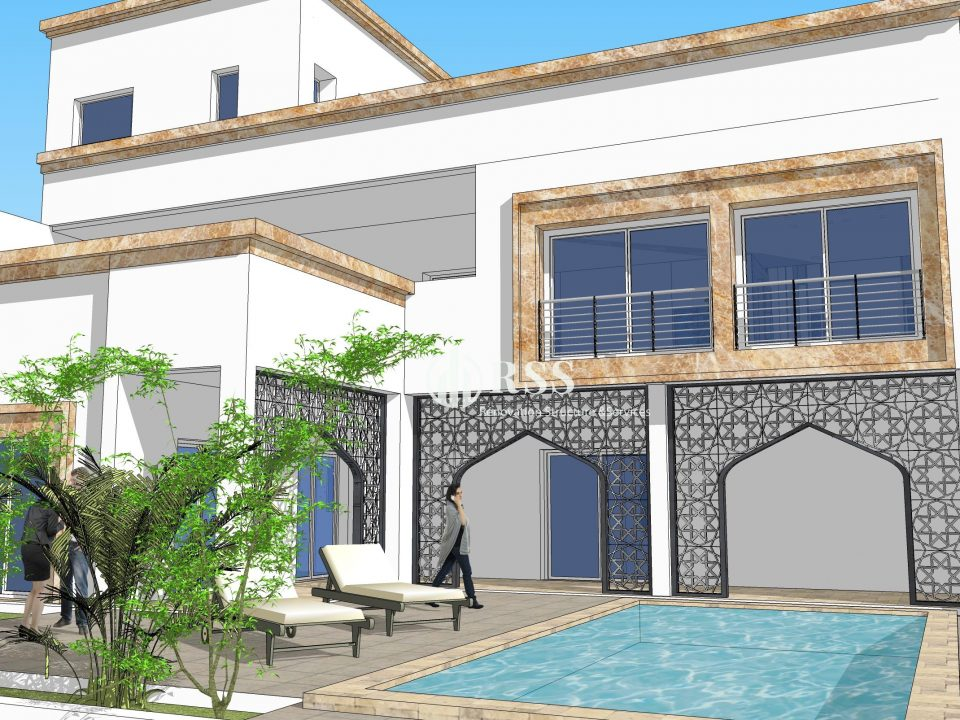 rss construction b timent maison villa piscine djerba tunis. Black Bedroom Furniture Sets. Home Design Ideas